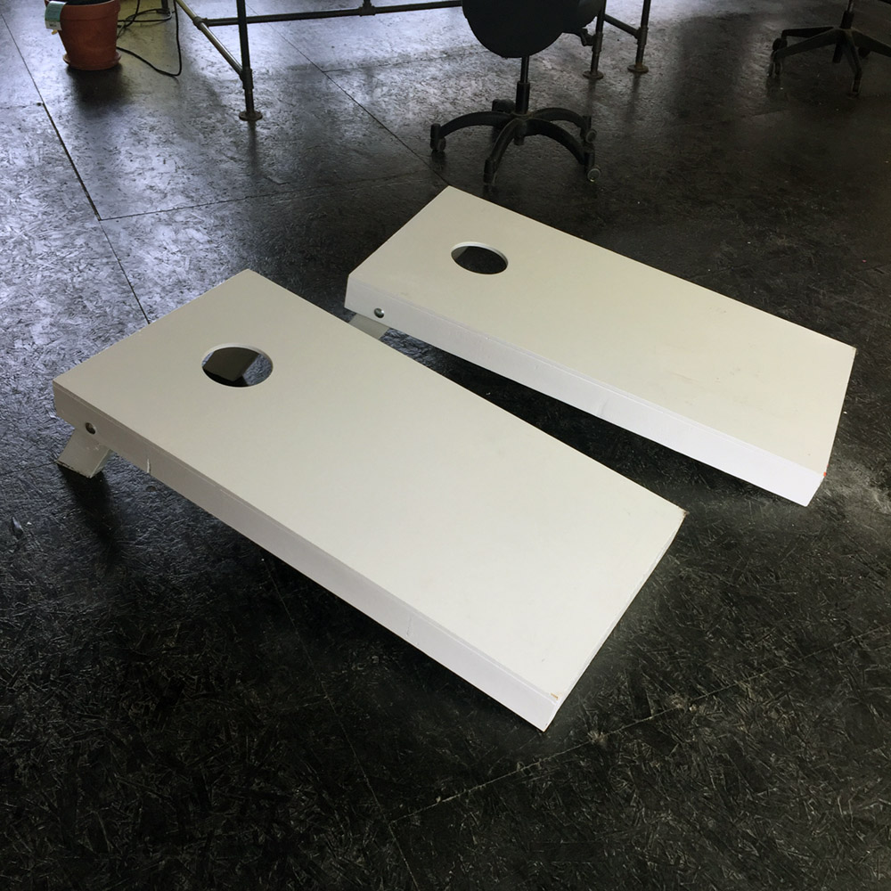 SOLD - Cornhole w/ Bags - Solid wood cornhole boards and bags