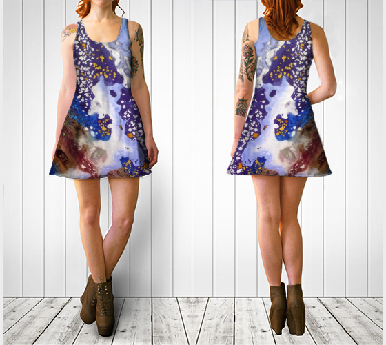 Milky Way Flare Dress - Front and Back.png