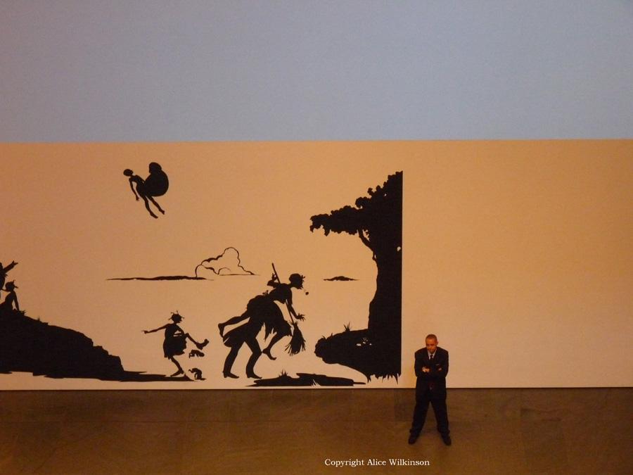guard at MOMA