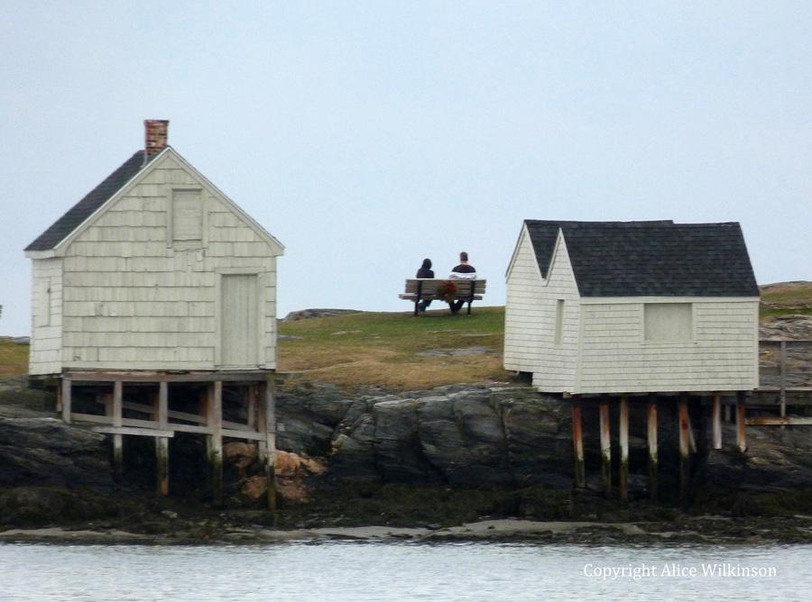 3 huts, 2 people