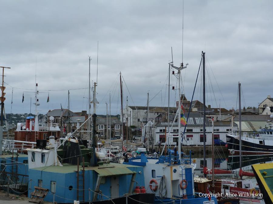 boats, Penzance harbor