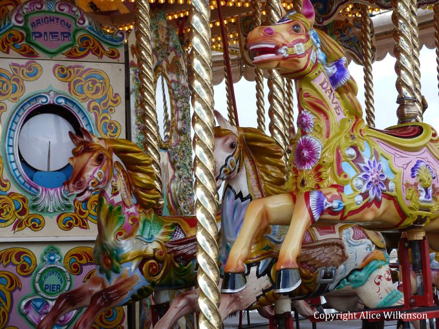 carousel, up close