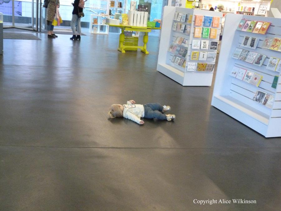 resting child, museum