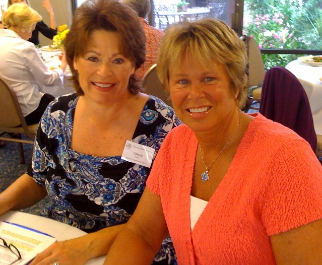 Valerie Preuss (left) with Ann Meyers Drysdale, Vice President of the Phoenix Suns, at the 2010 Women's Conference at the Franciscan Renewal Center. Mrs. Preuss was the organizer of the event and the emcee.