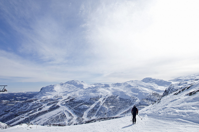 Beautiful, unpopulated slopes of Hemsedal