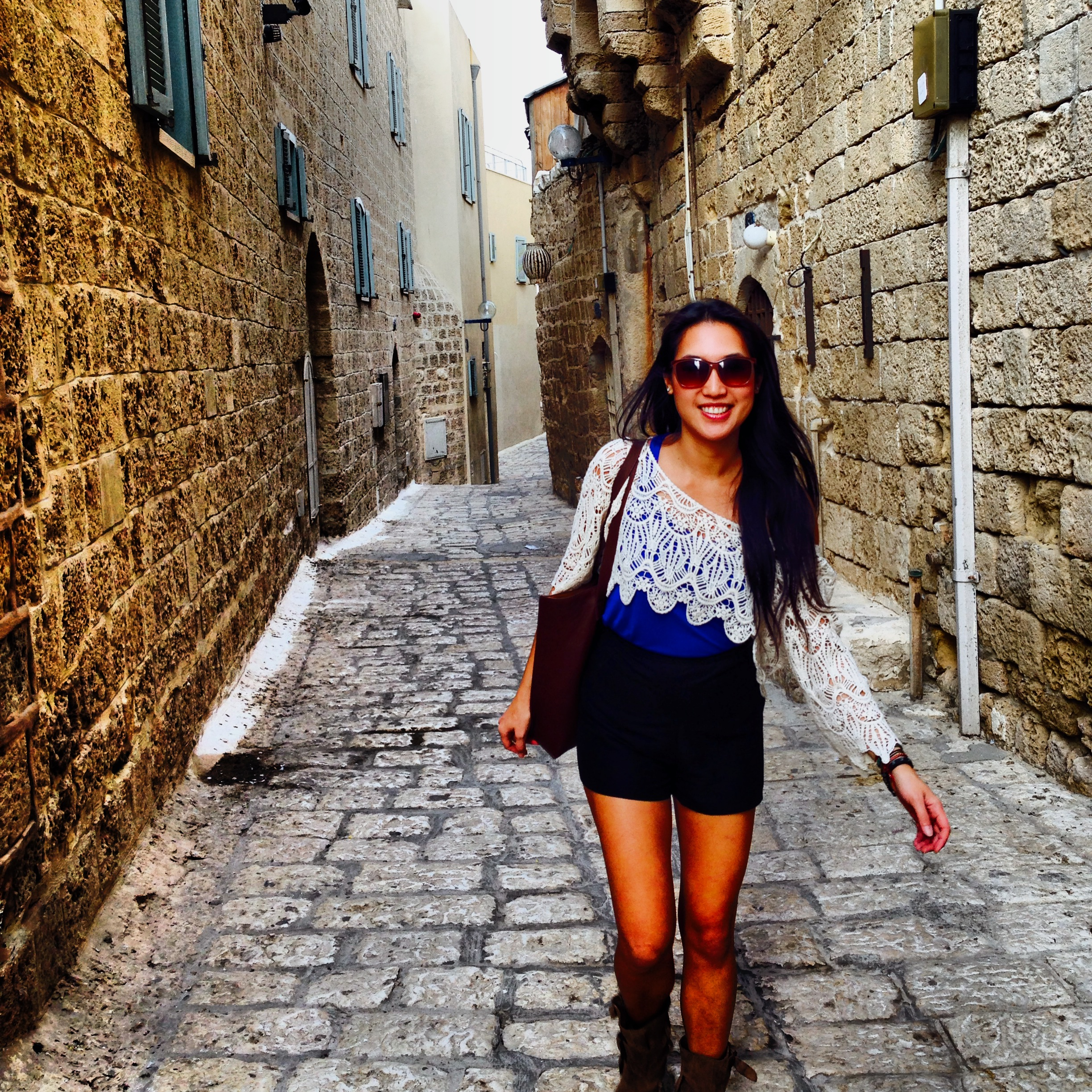 Walking through Old Jaffa