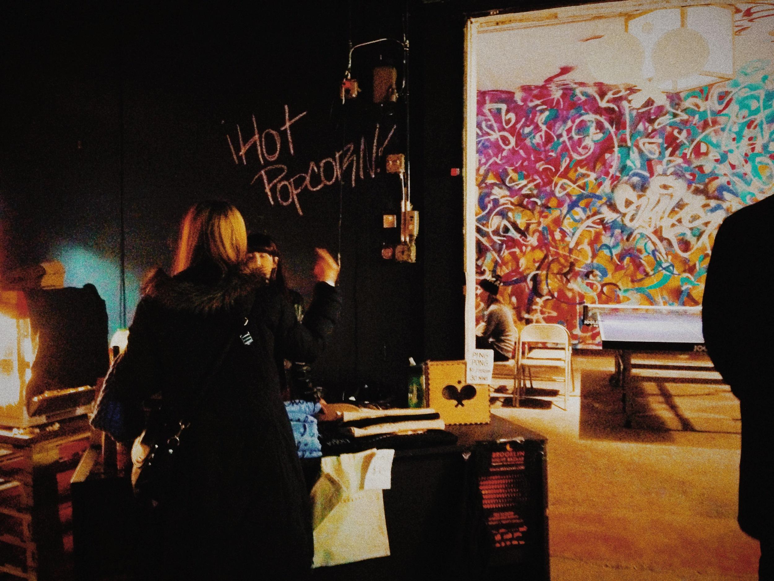 Popcorn and Pingpong at Brooklyn Night Bazaar