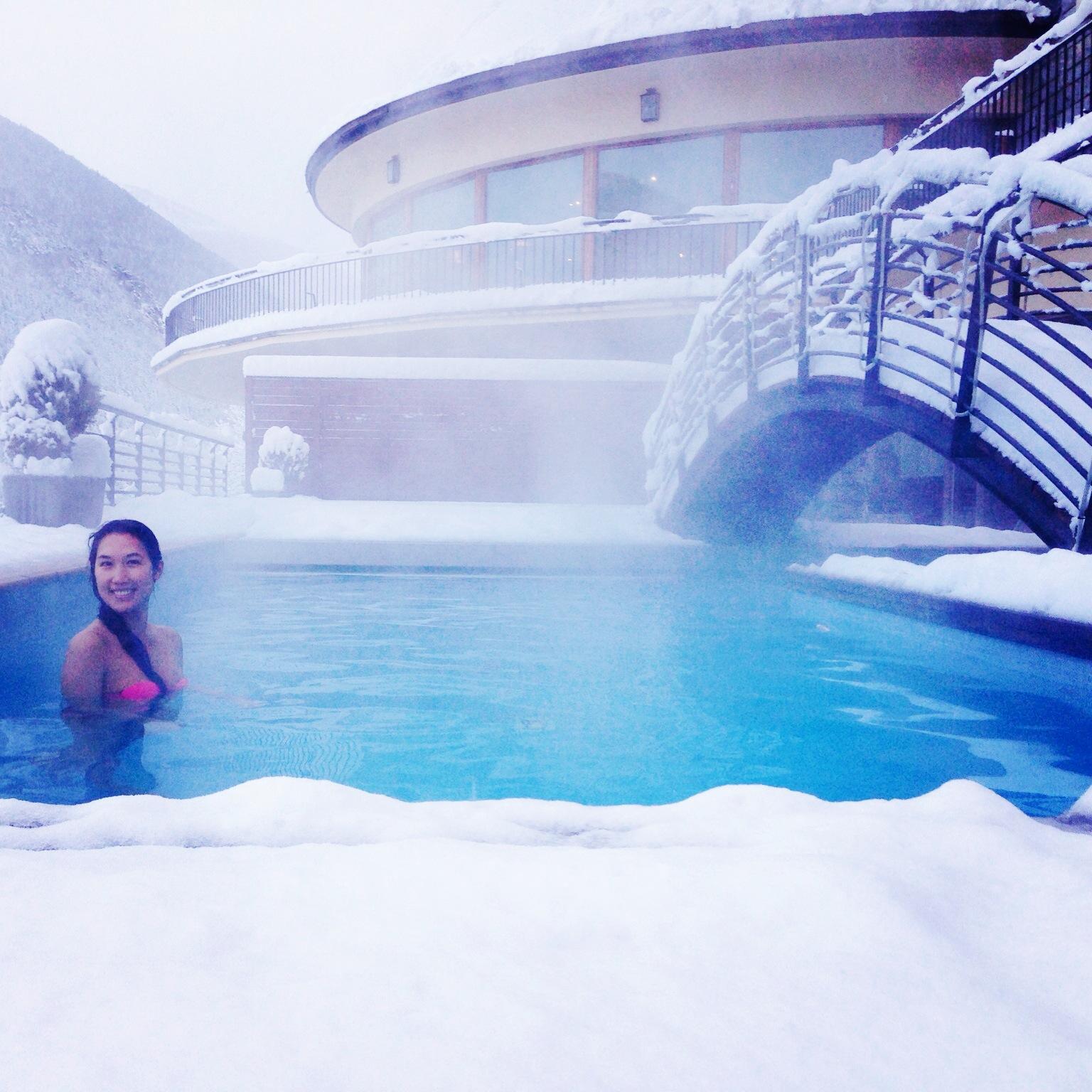 Outdoor Heated Pool at Parador de Vielha