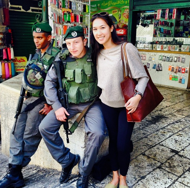 With the Israeli border police