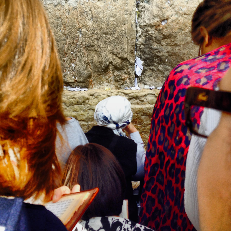 Wailing at The Kotel aka The Western Wall