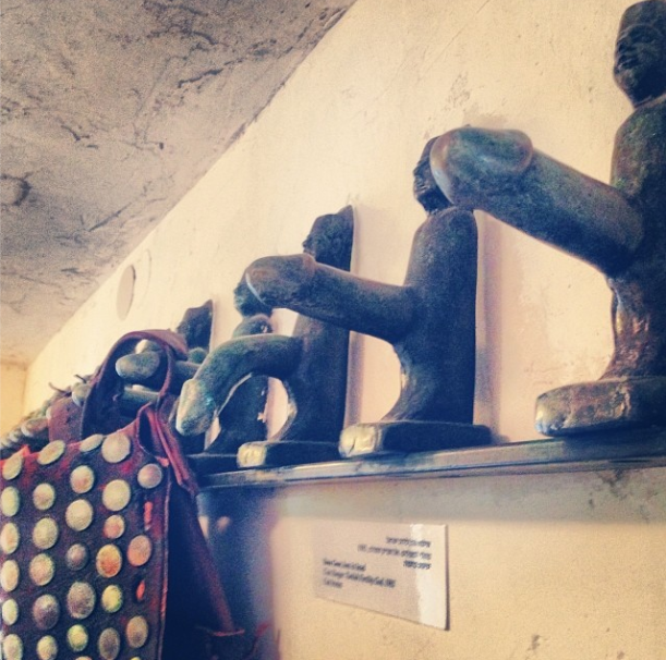 Penis wall hooks by celebrated Israeli artist, Ilana Goor , at her museum in Jaffa.