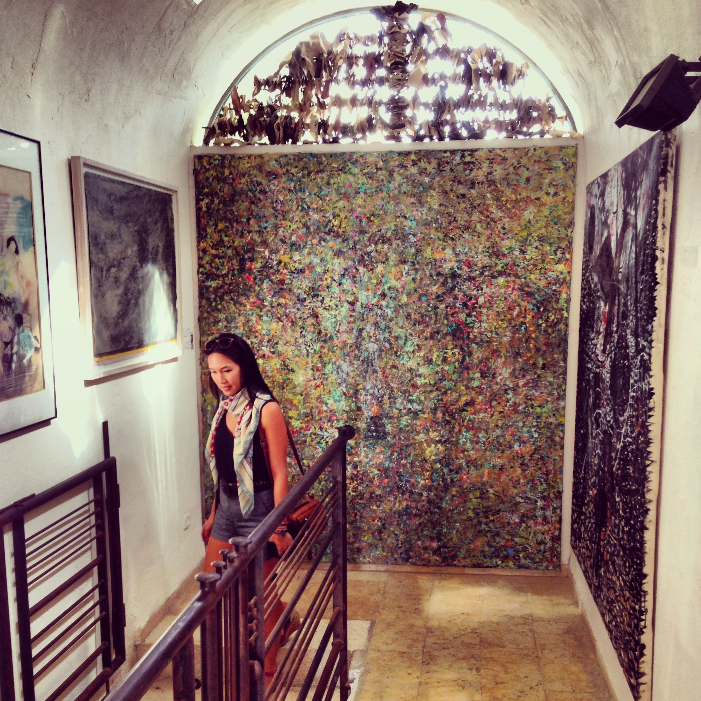 Exploring local artwork at the museum of the celebrated Israeli artist  Ilana Goor  in Jaffa.