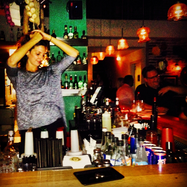 Even the bartenders belly dance in Tel Aviv.