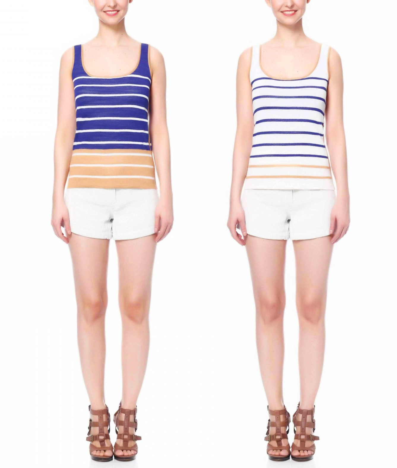 Reversible ABELLE sleeveless shirt from Jia Collection