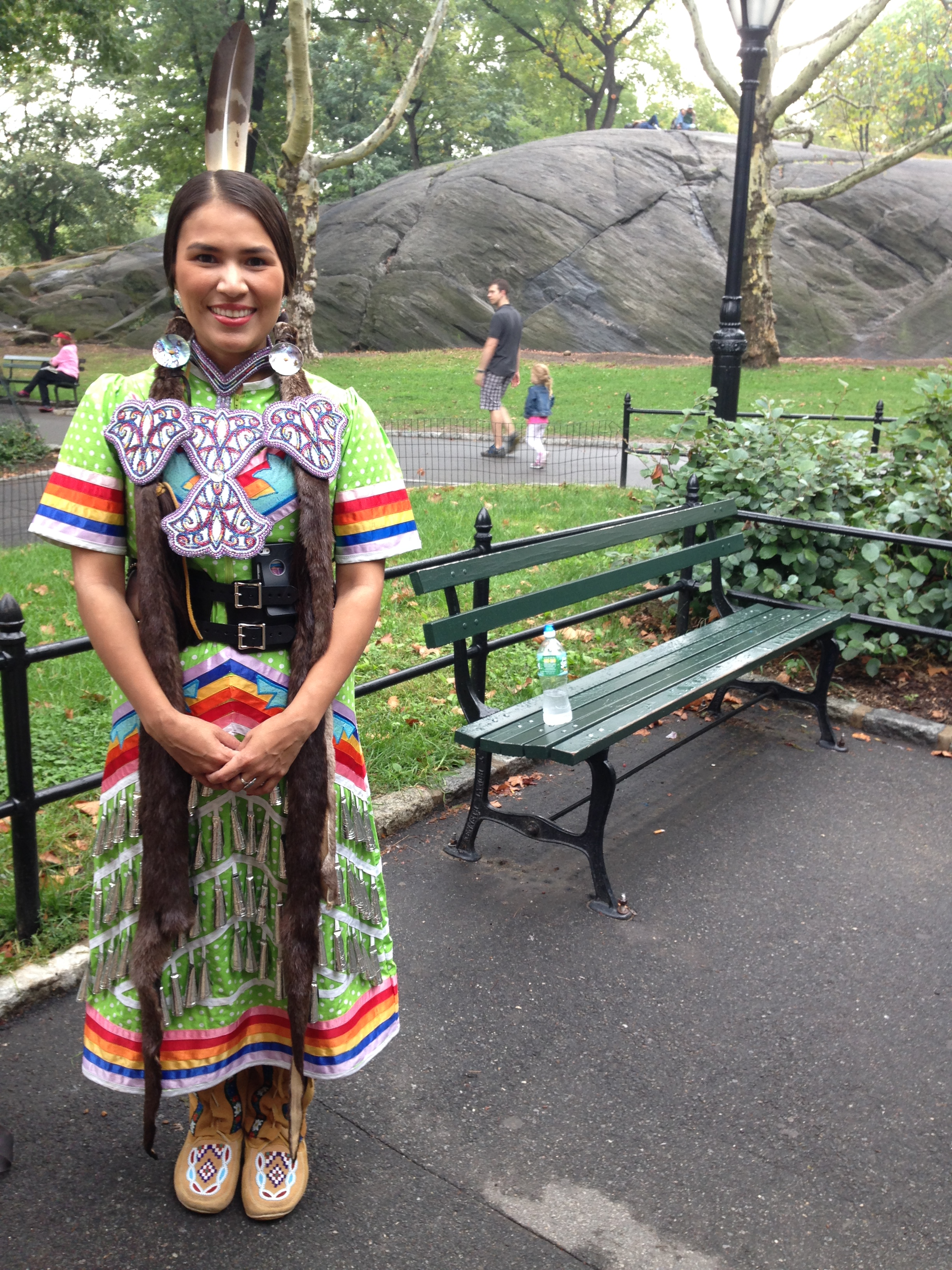 Shelley from Nova Scotia, dressed beautifully for the People's Climate March.