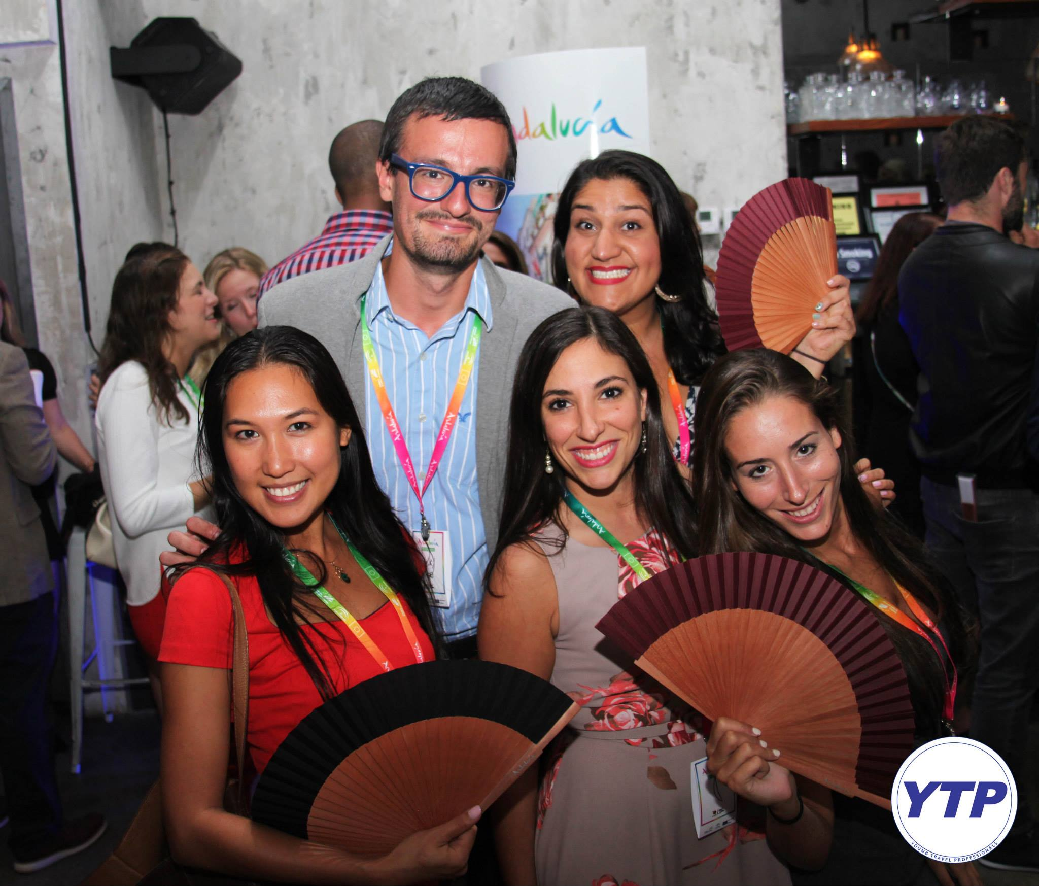 Back row: L to R - Nick Dragone & Rani Cheema; Front row: L to R - Me, Marisa Costa (the Director of the  NEXT program ) and Nicole Teitler - the first graduating class of the NEXT Travel Agent Training Program at a  Young Travel Professionals  networking event.