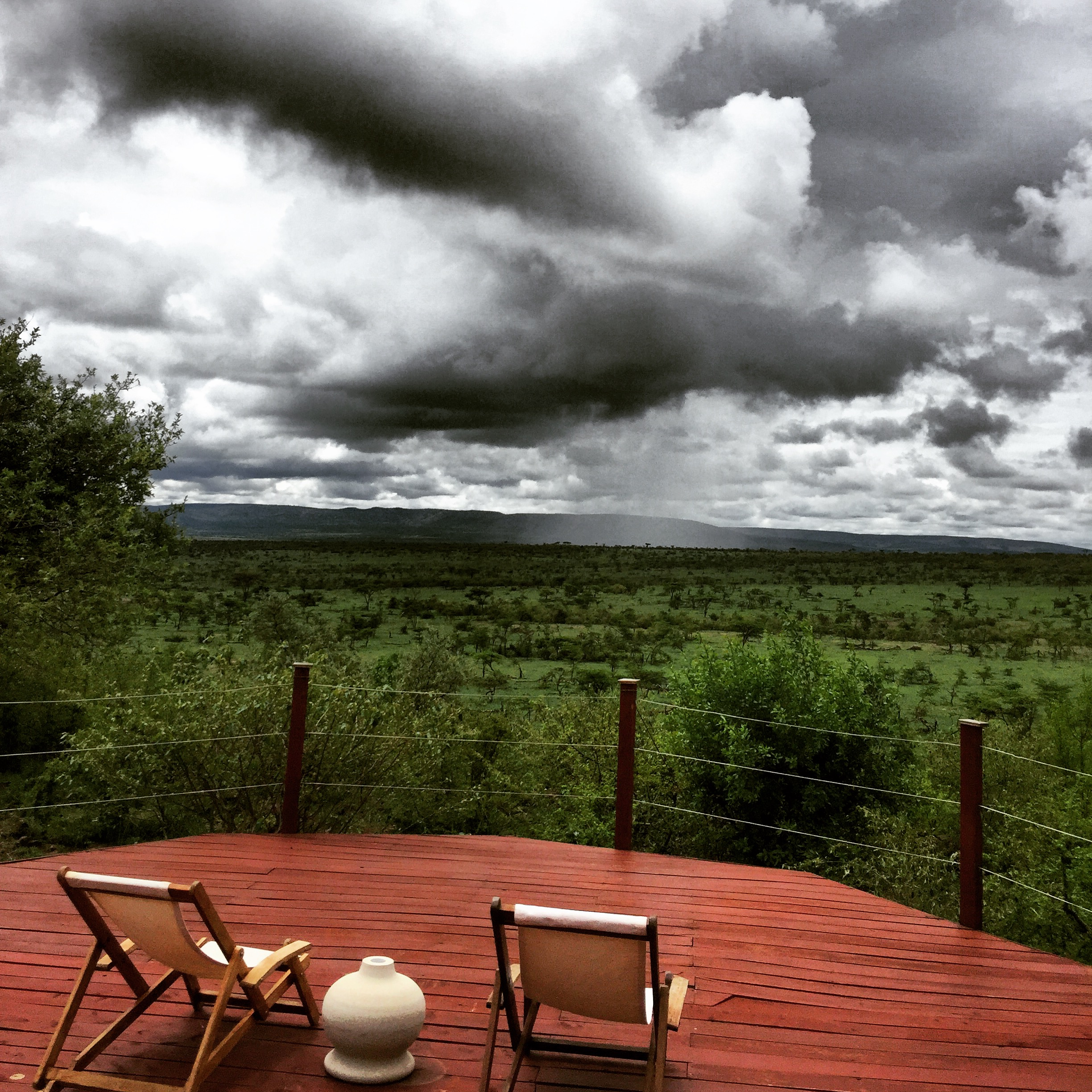 Rain, off in the distance.We were traveling in November, the rainy season here in The Mara - but it rained in beautiful patches (see above).