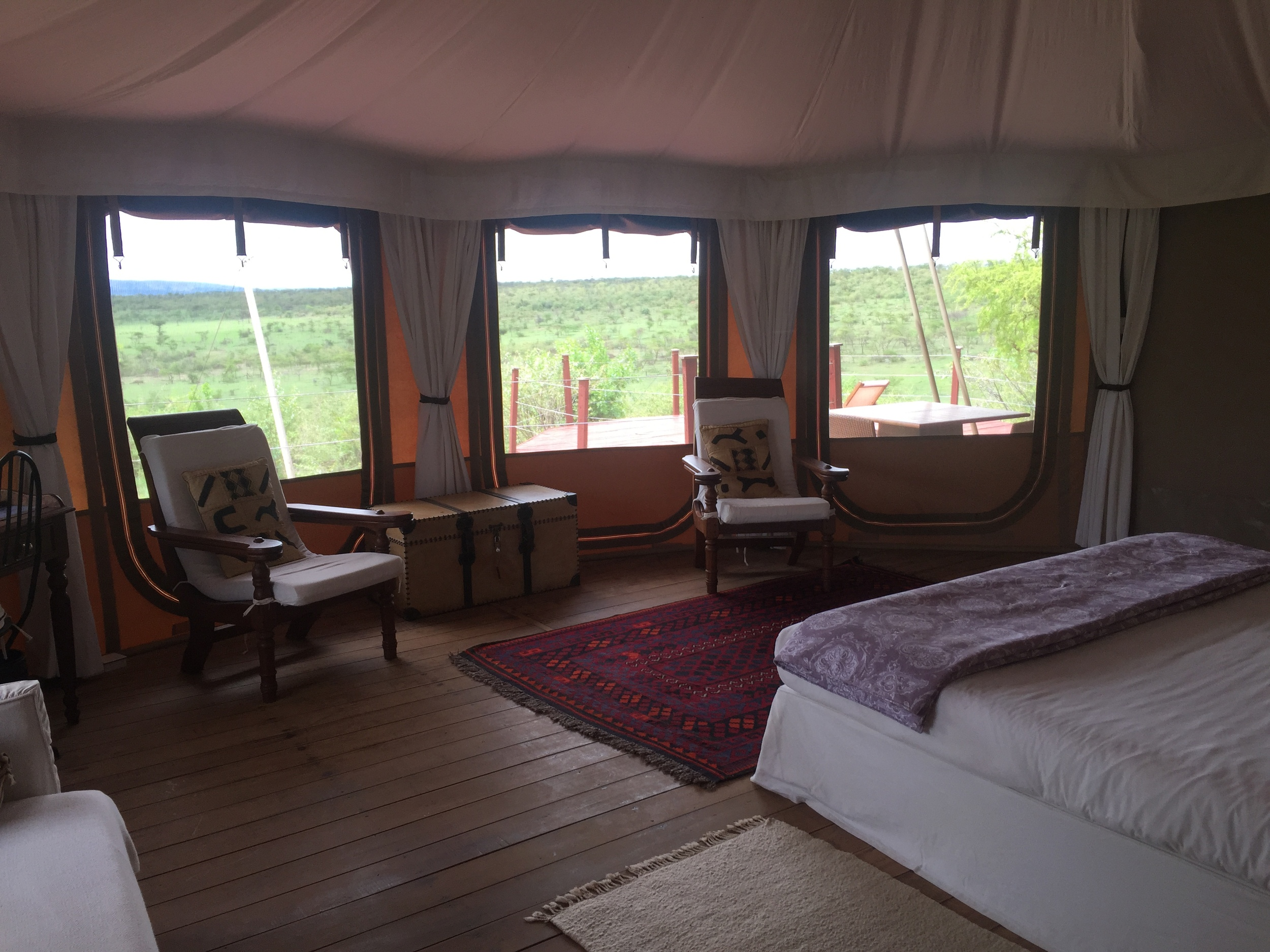 Such a beautiful view of The Mara from my bedroom.