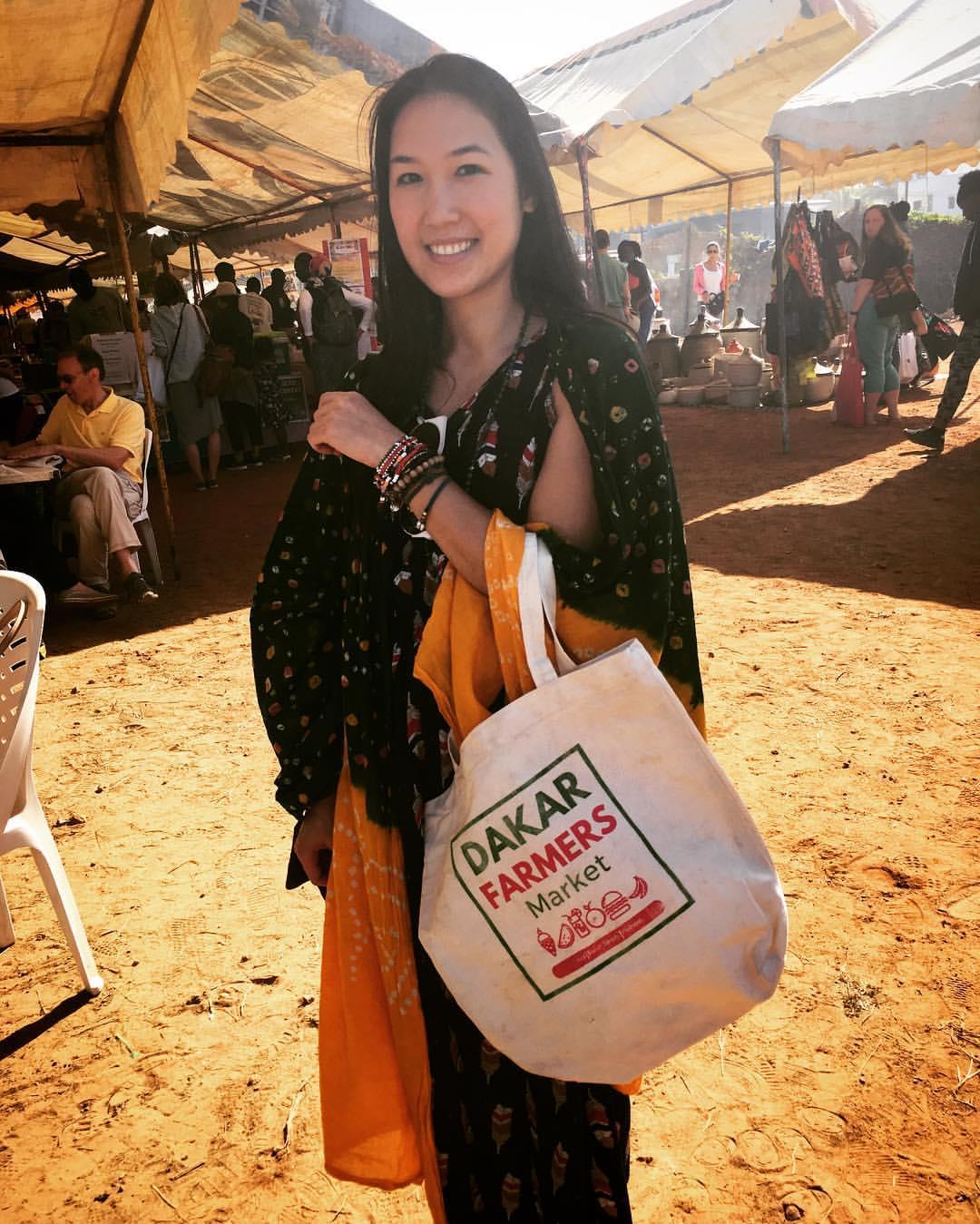 My awesome    Dakar Farmers Market    souvenir canvas tote bag.