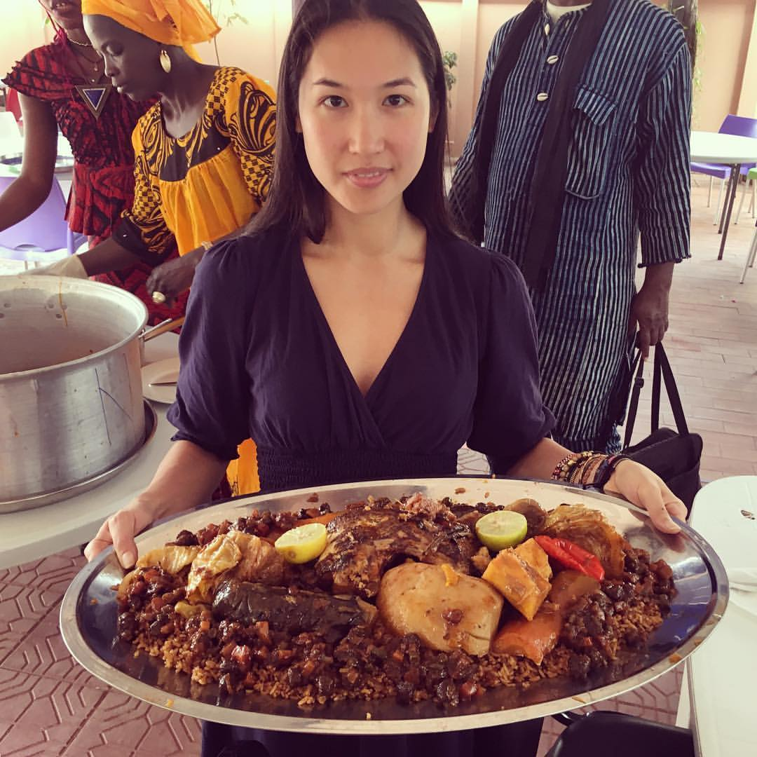 I was lucky enough to be able to sample the   Senegalese national dish called Theboudienne   at the    West African Research Center    in Dakar.