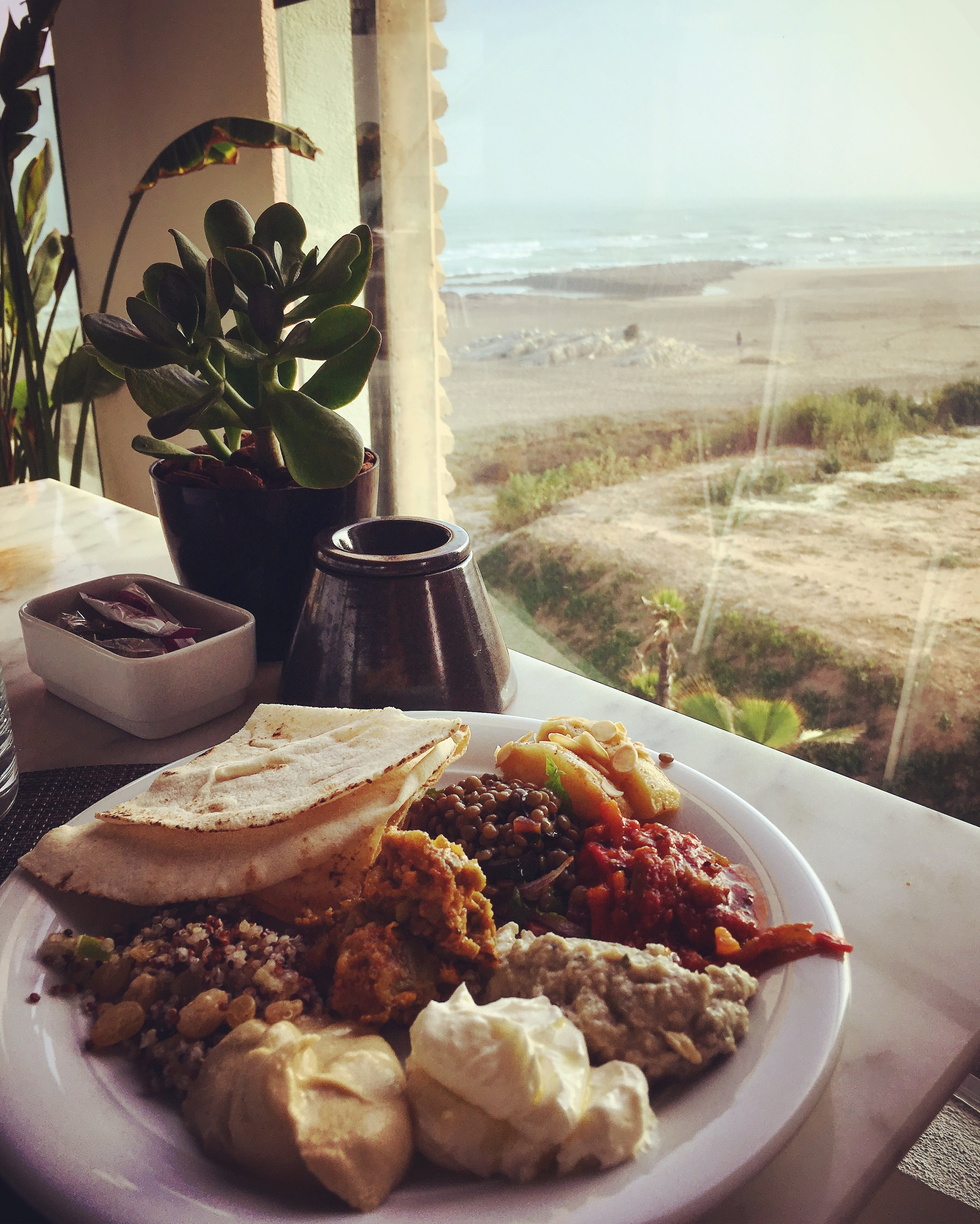 Moroccan breakfast buffets are never short on delicious treats. This brekkie is coupled with a breathtaking view of the Atlantic Coast at the Four Seasons Casablanca.