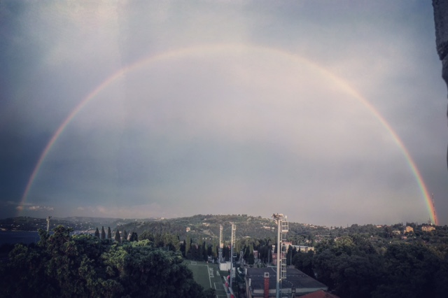 A rainbow over Piran