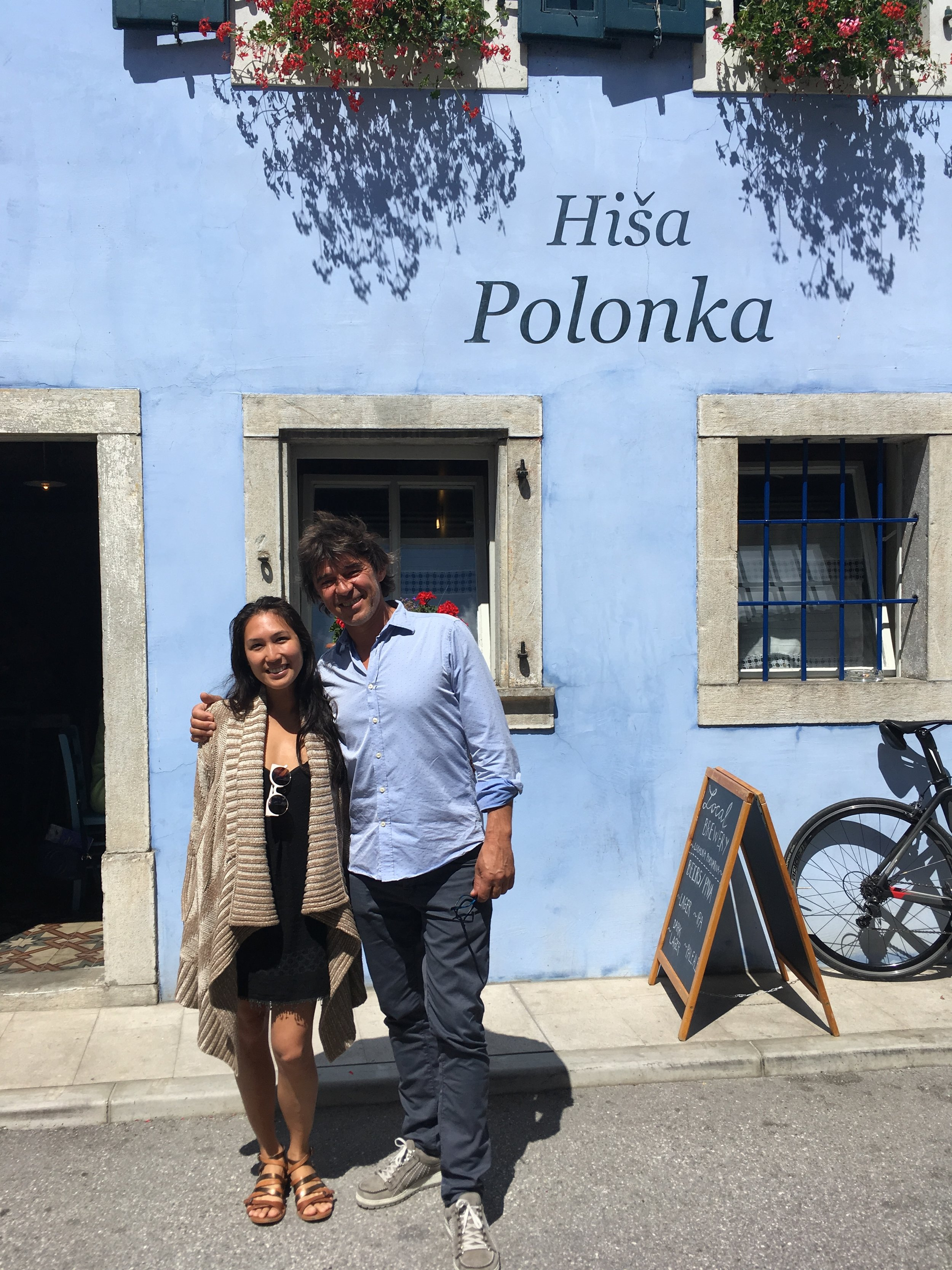We ate at Valter's new beer pub and restaurant  Hisa Polonka .