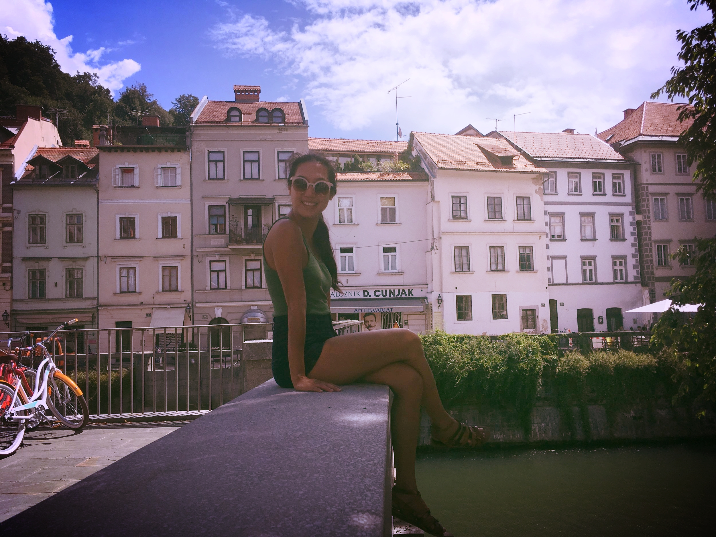 Just hanging by the Ljubljanica River.
