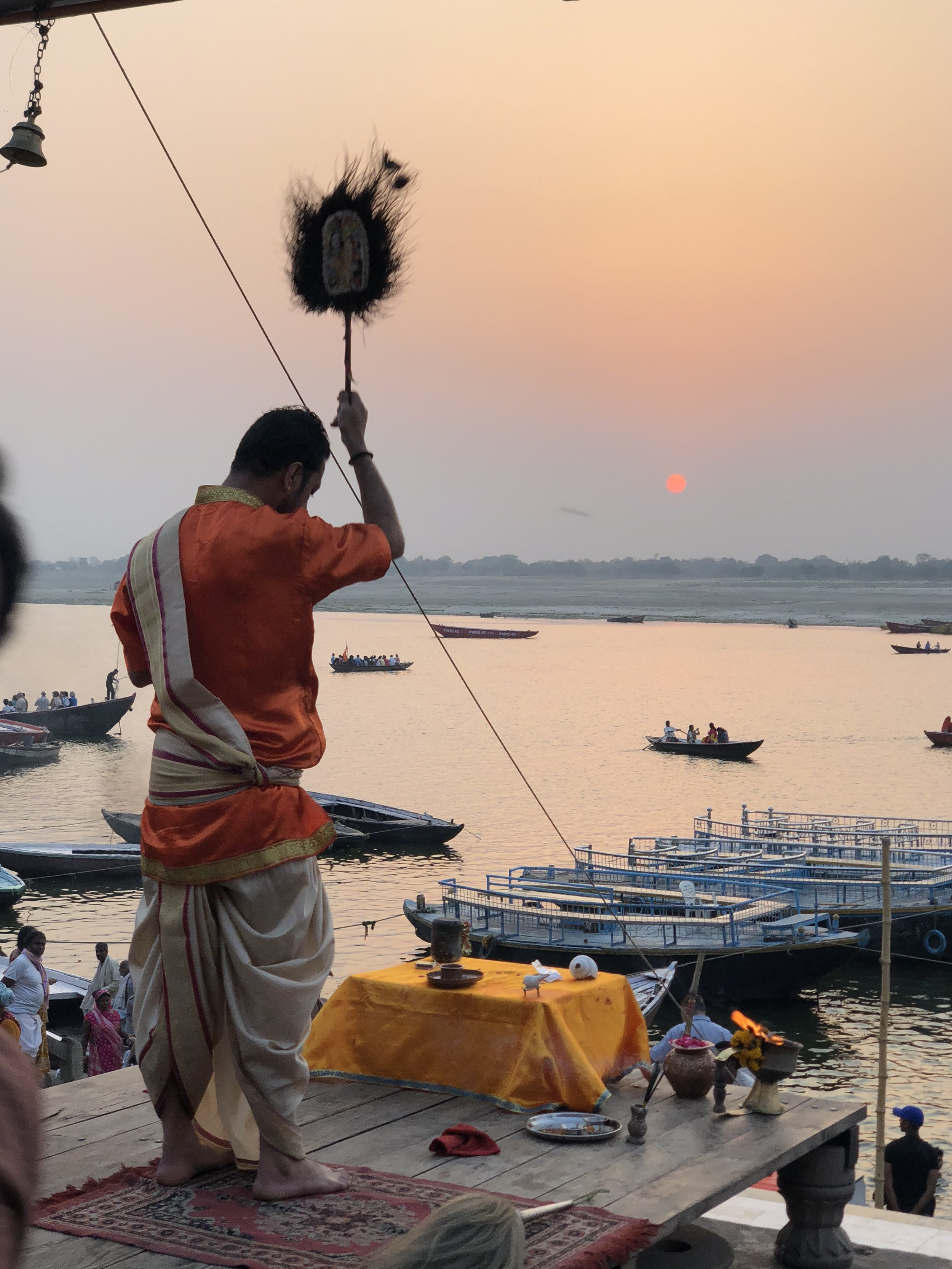Sunrise at the Ganges