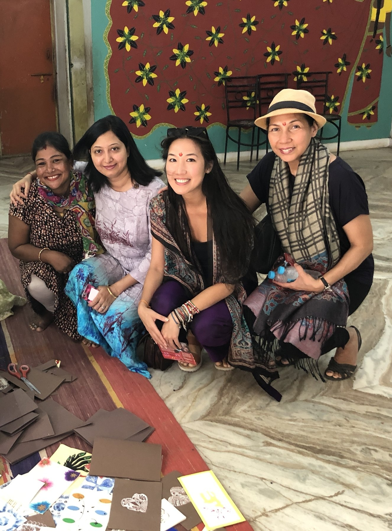 L to R:  Tulsi was able to make her dreams of going to nursing school come true through  Ladli ;Darshna Goswami the Project Coordinator at  Ladli ; me and my mom.
