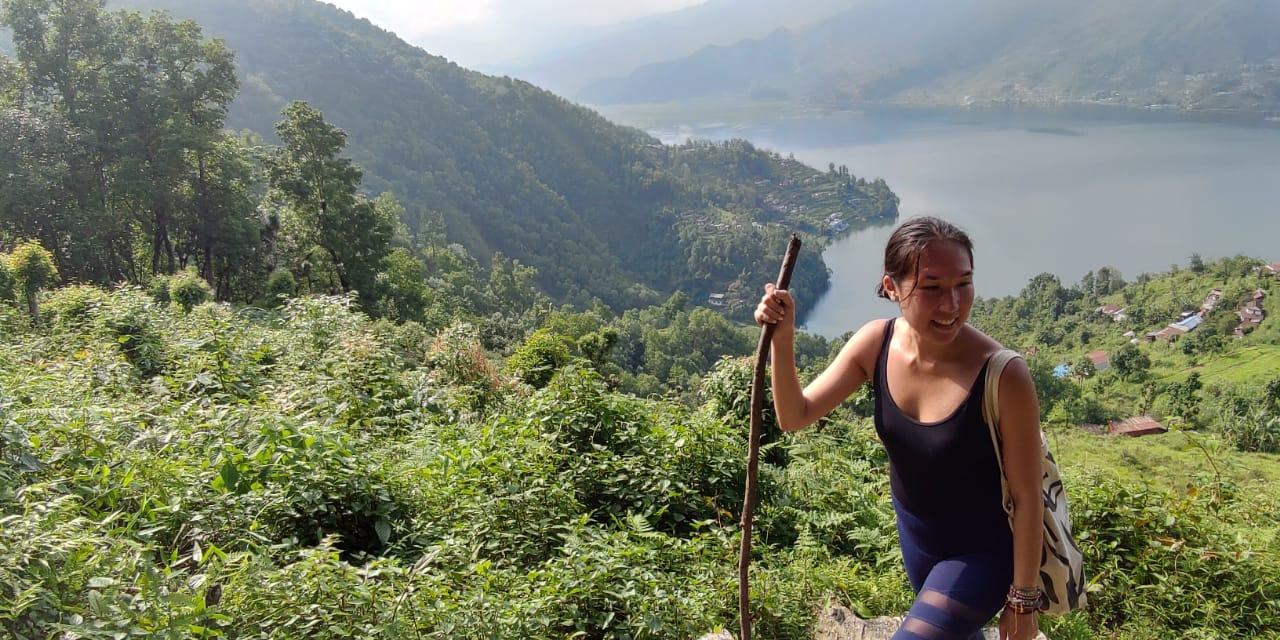 Trekking in Pokhara.