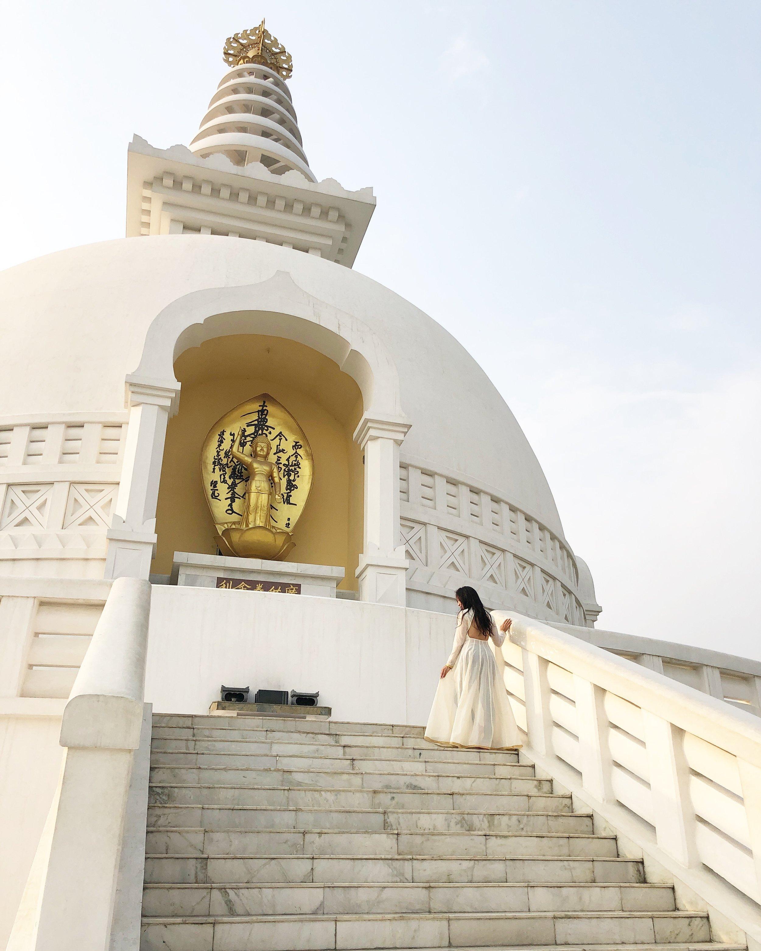 World Peace Pagoda in Lumbini.