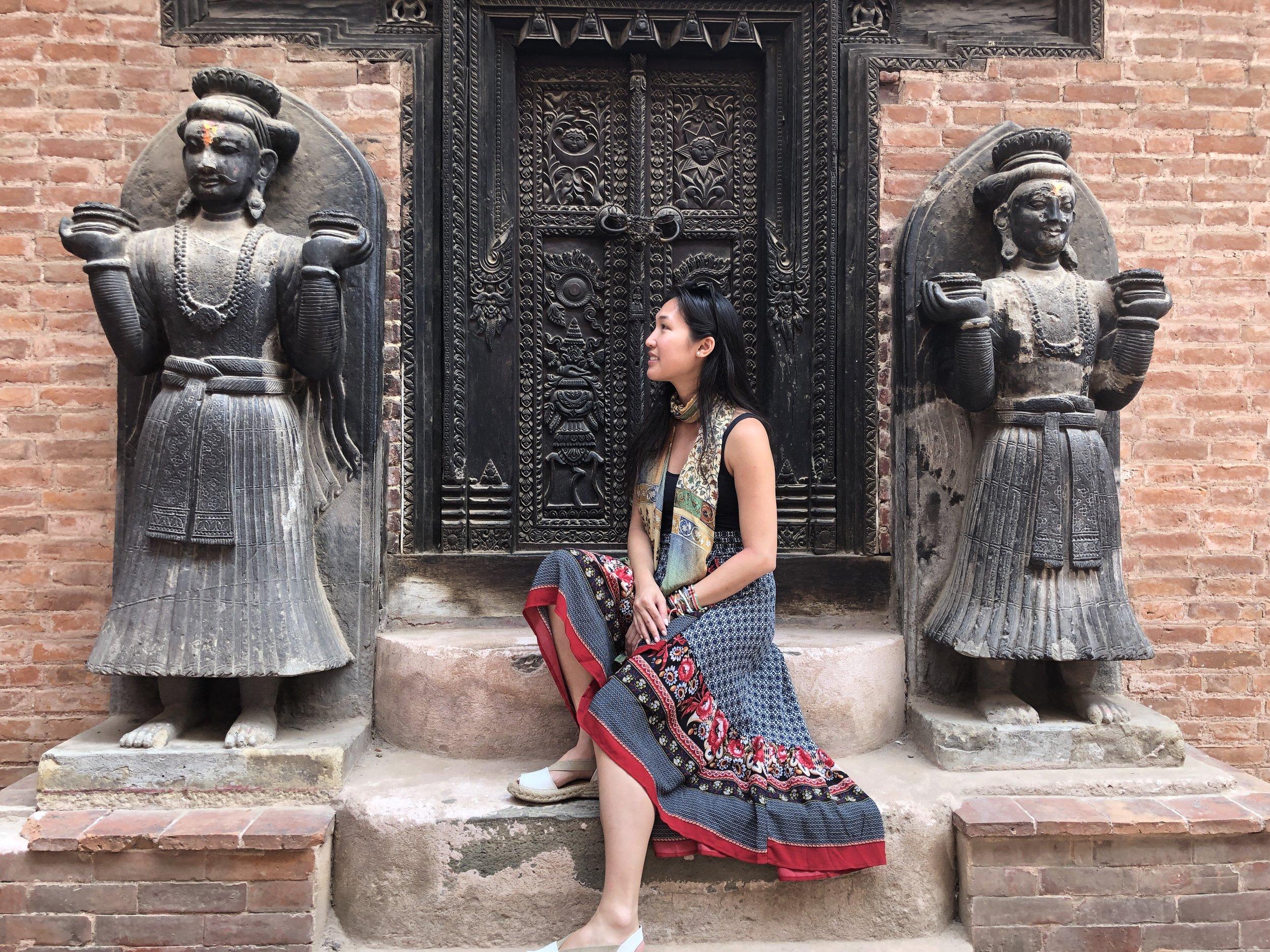 Exploring Bhaktapur.