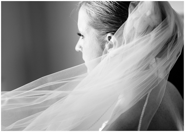 peaceful moment for bride before wedding