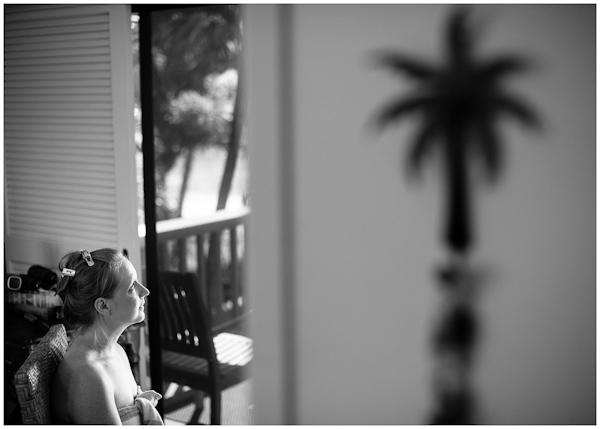 bride getting ready for makeup kauai hawaii