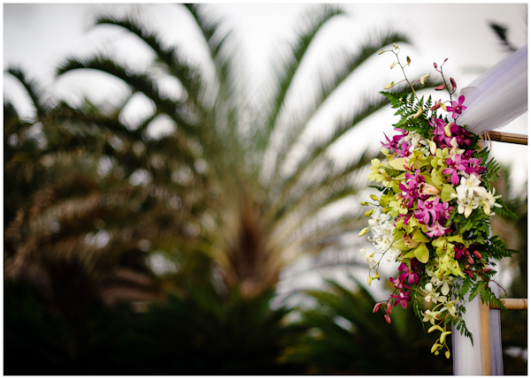 details of wedding arch floral
