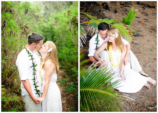 natural light poipu kauai wedding portraits