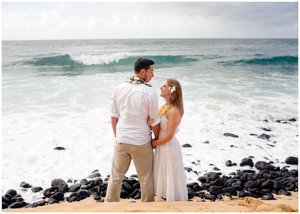 shipwreck beach wedding portraits poipu kauai