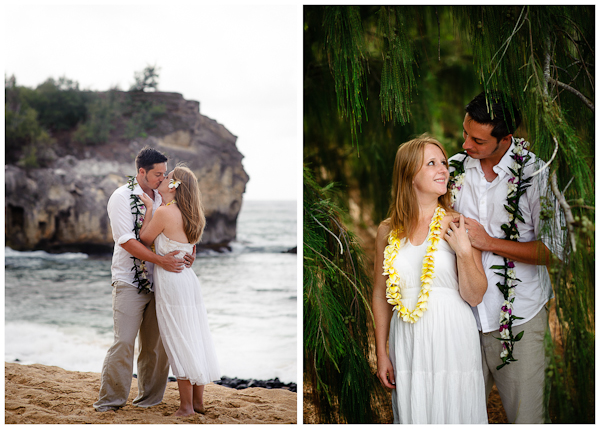 wedding pictures shipwreck beach kauai