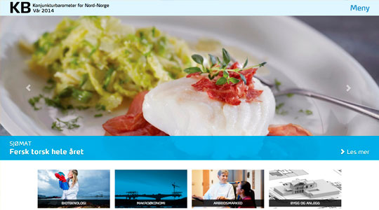SpareBank1 Northern Norway's Konjunkturbarometer (web page)
