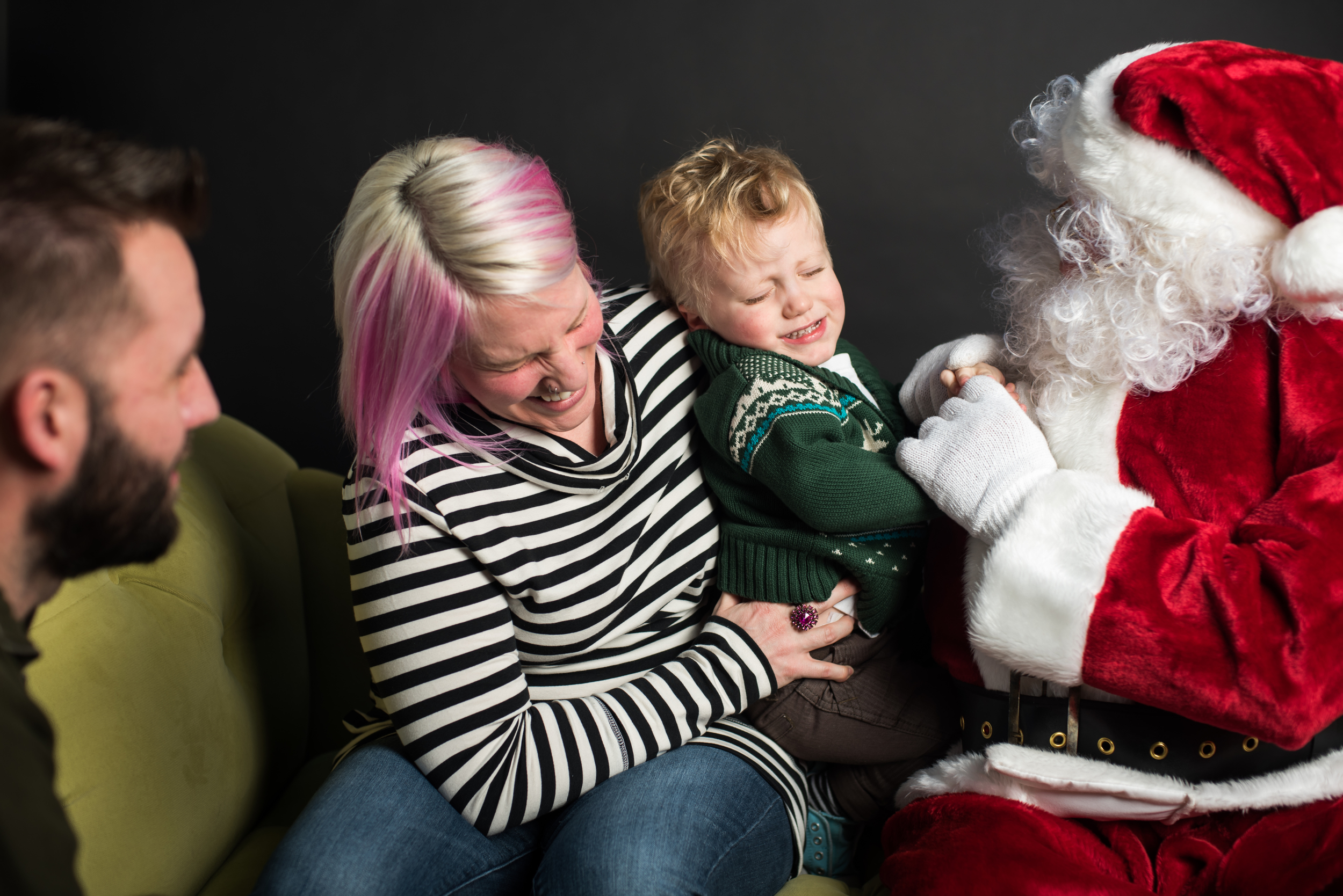 and then the toddler meets Santa and hates it.
