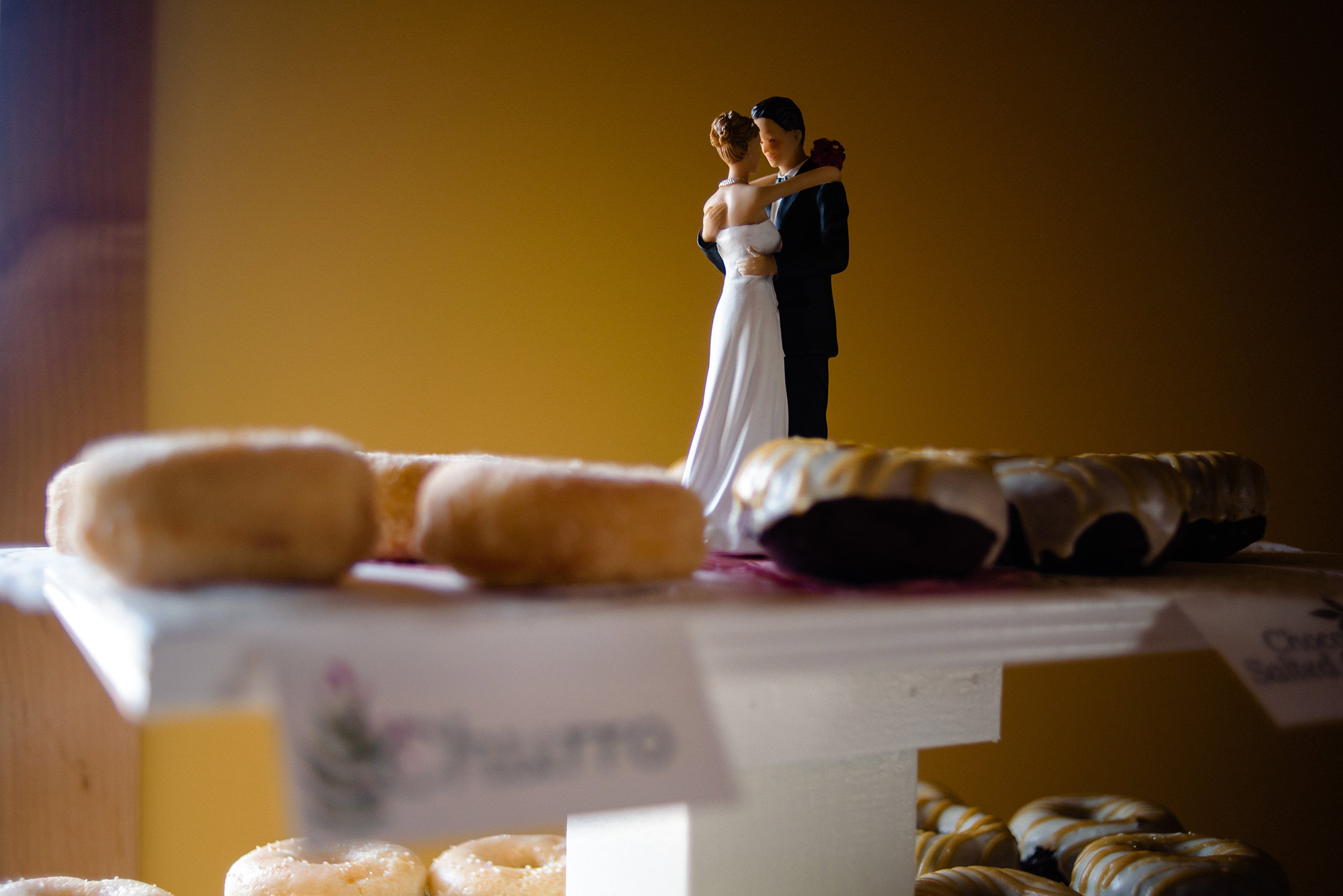 wedding donuts in omaha with wedding topper.jpg