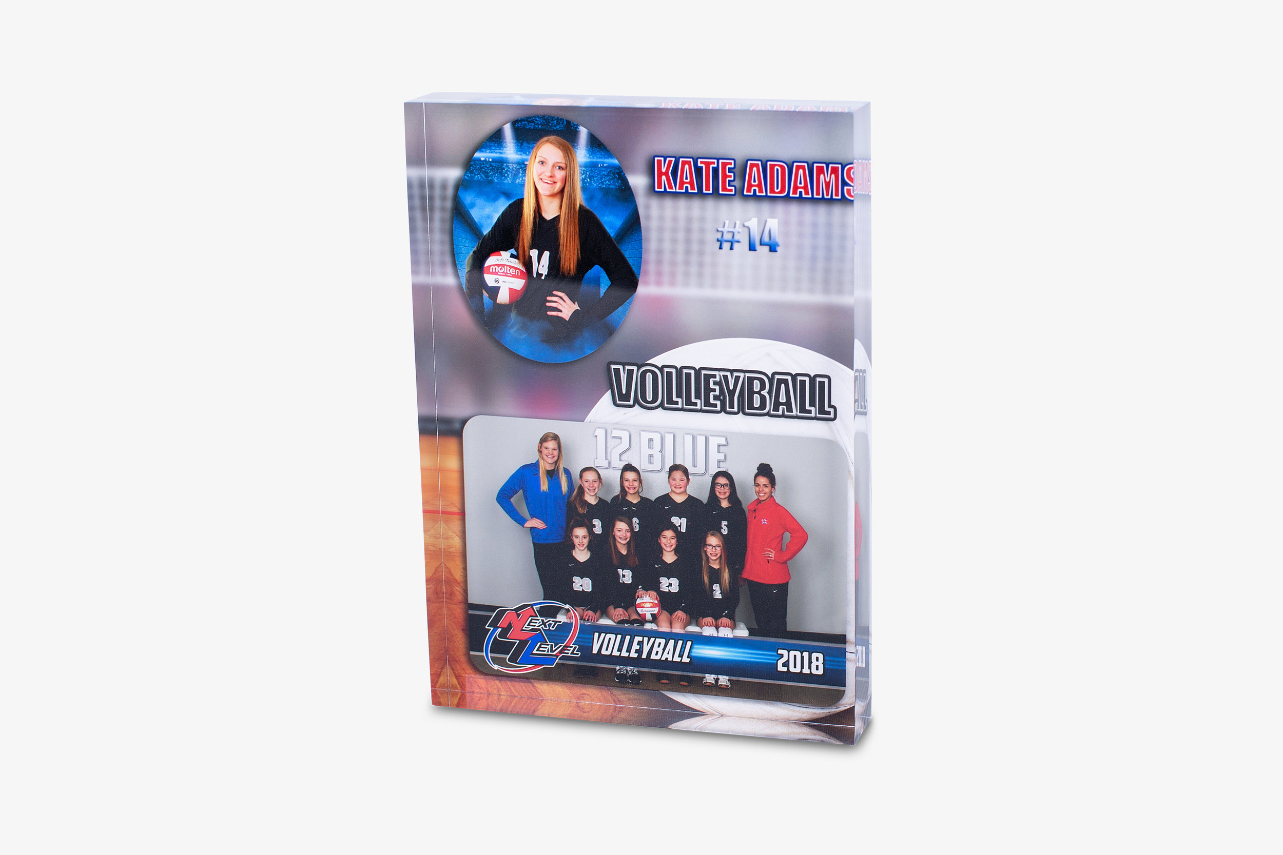 School and Sports Memory Mate Acrylic Blocks