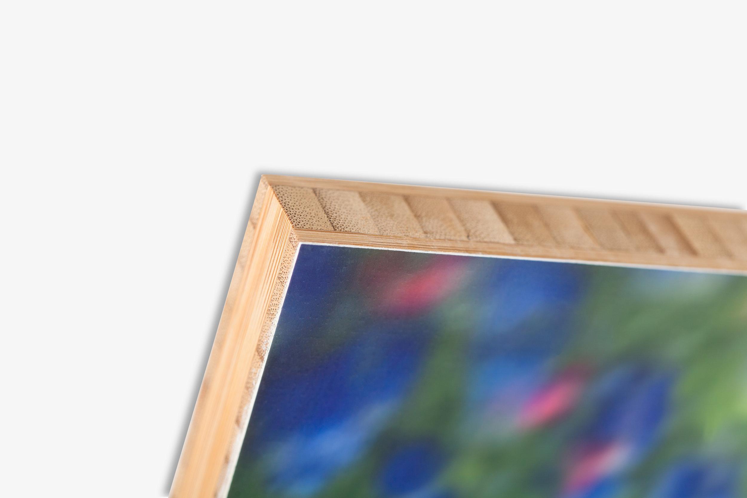 Bamboo Mounted Print Corner