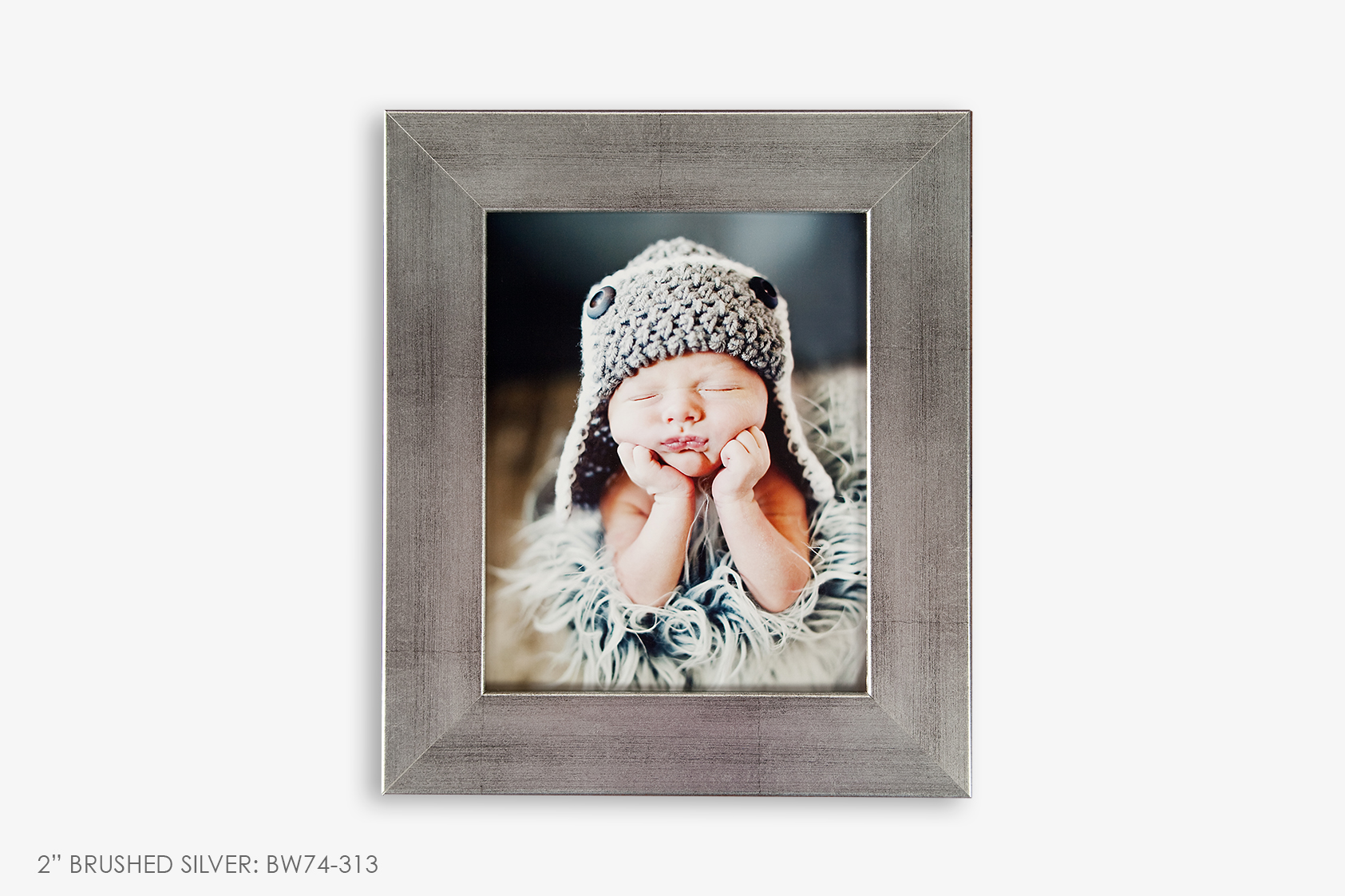 "2"" Brushed Silver Photo Frame"