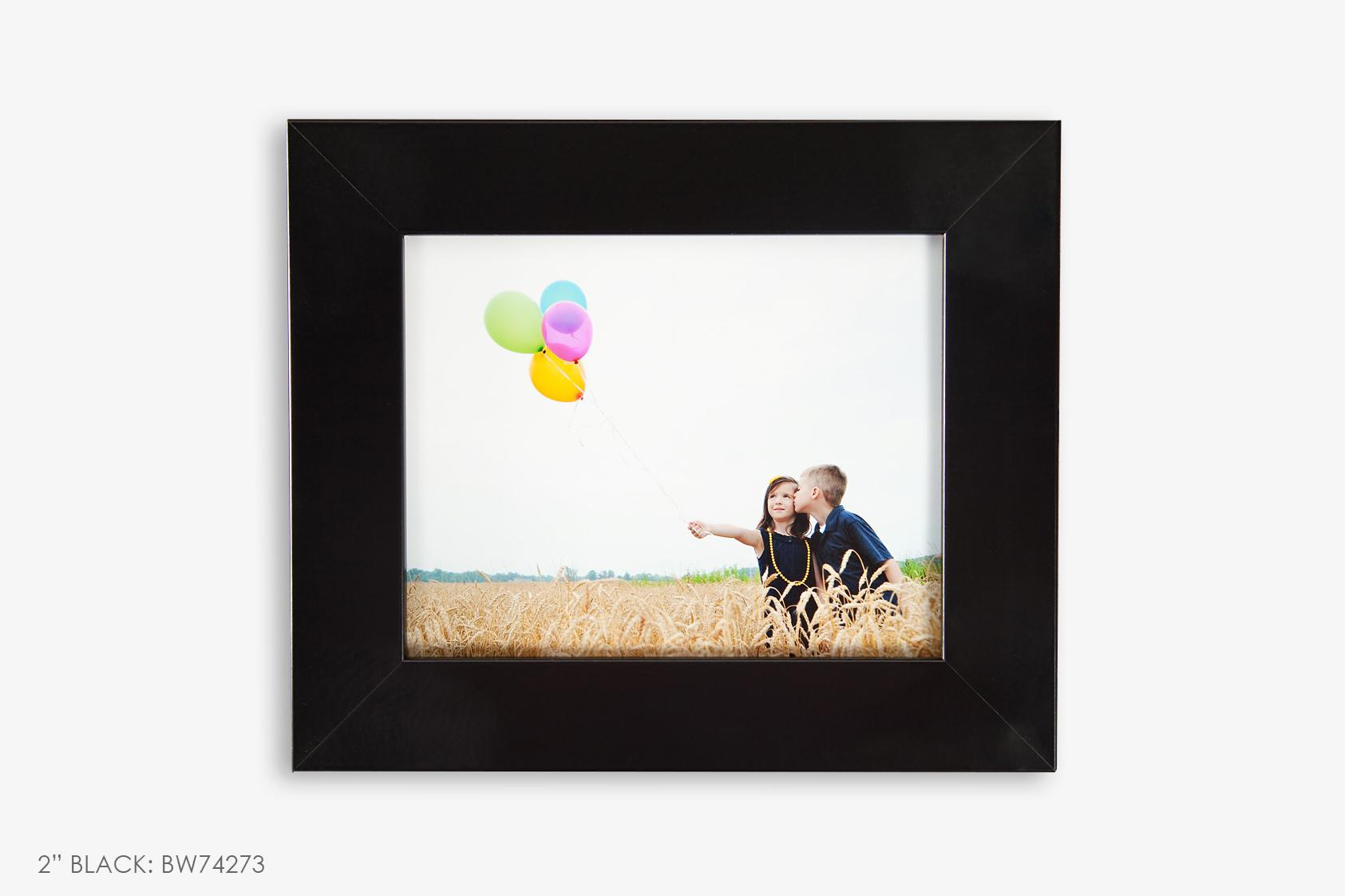 "2"" Black Photo Frame"
