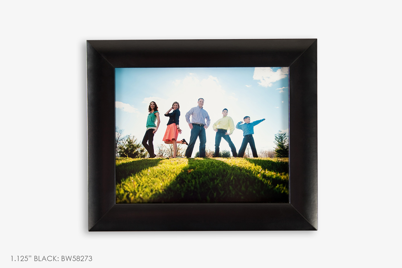 "1.125"" Black Photo Frame"