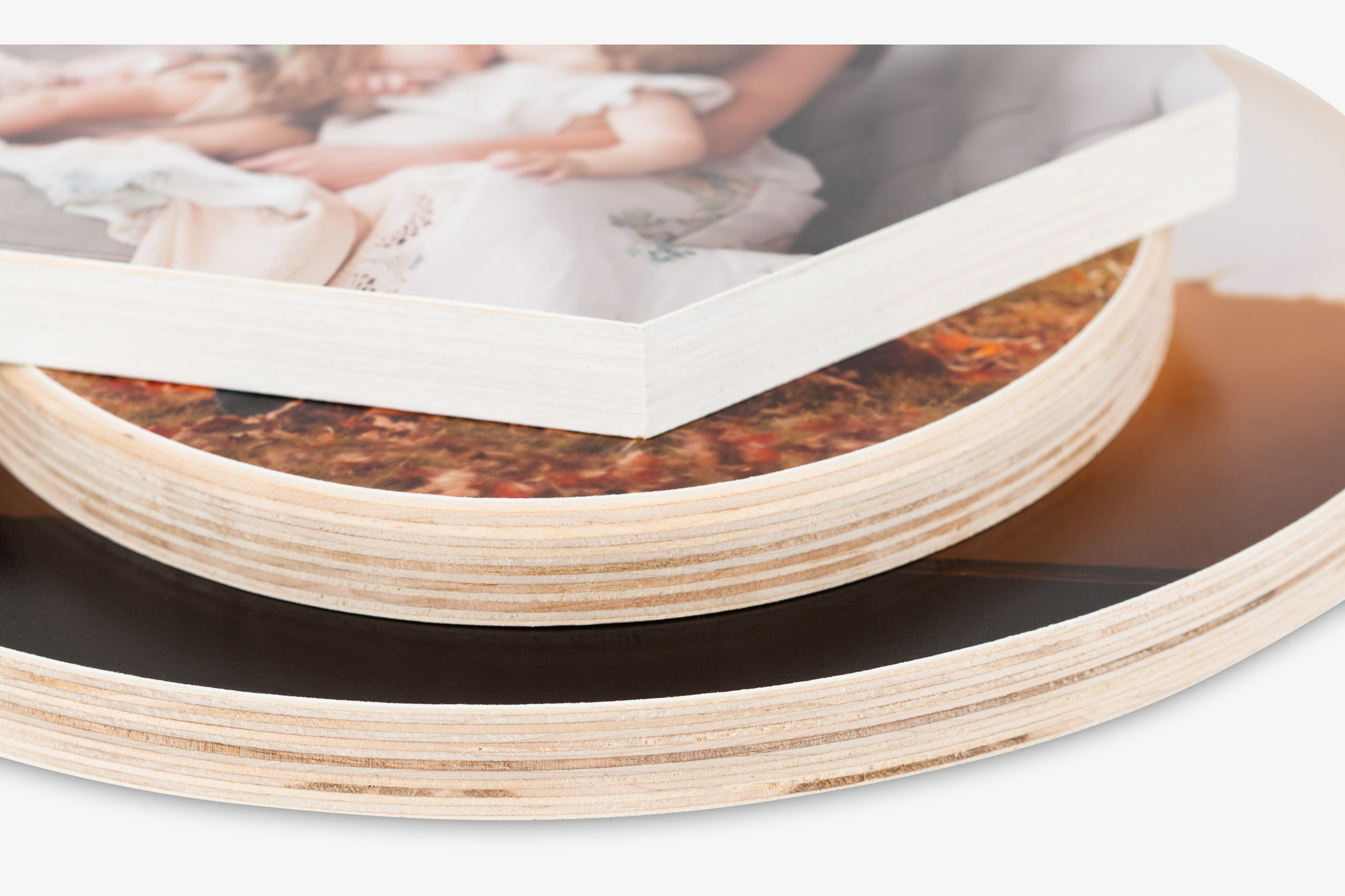 Mendoza Wood Print Oval Hexagon Rectangle