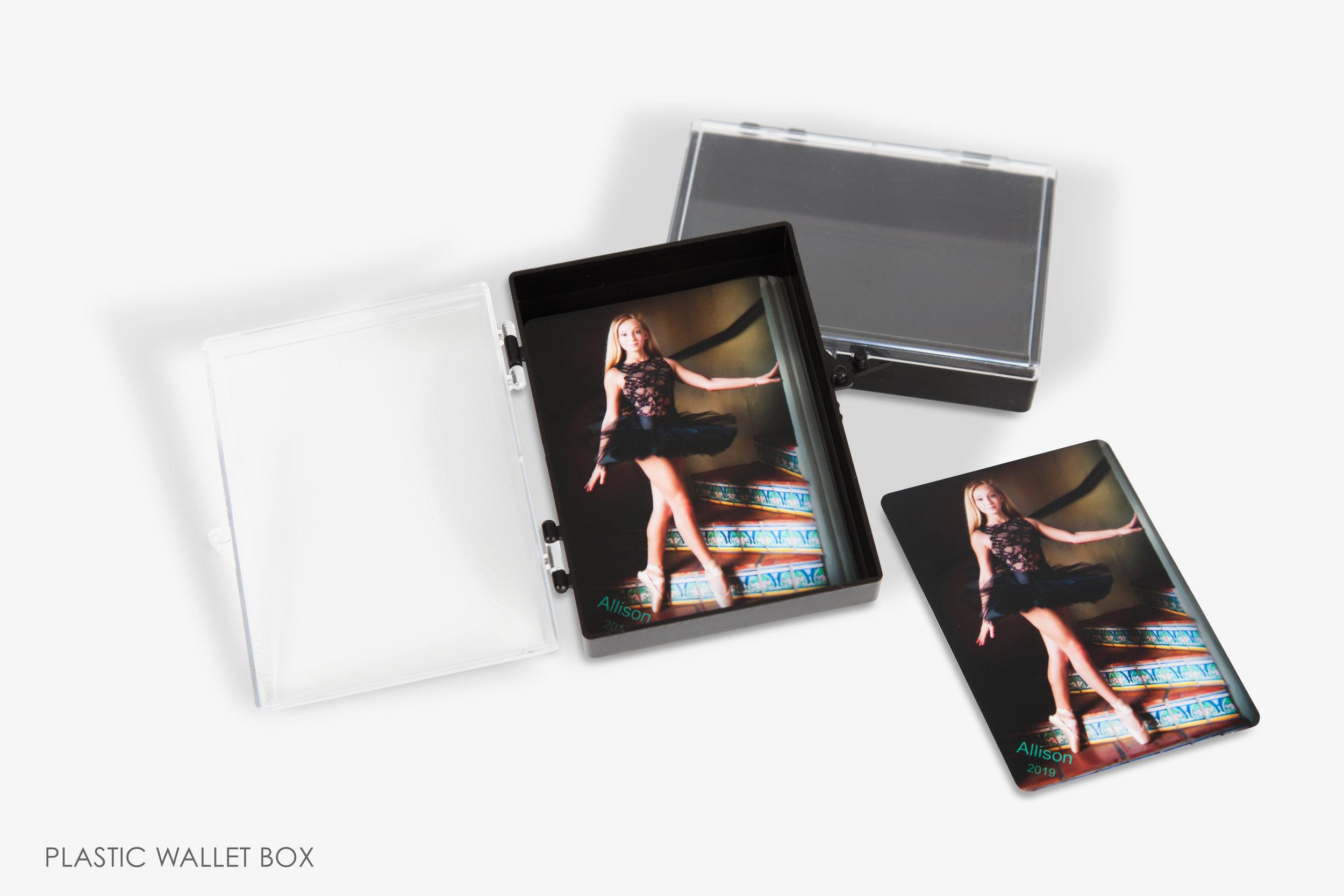 Plastic Wallet Photo Box