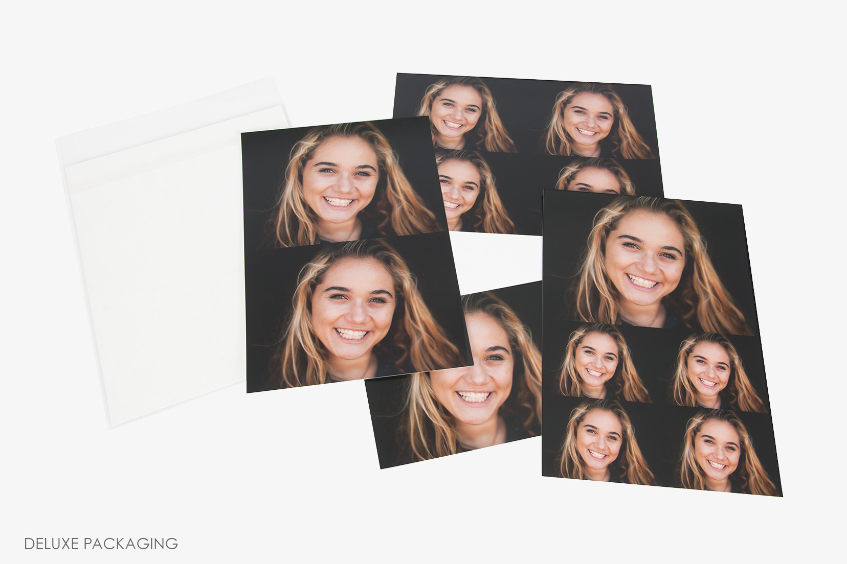 School and Sports Photo Print Clear Back Packaging